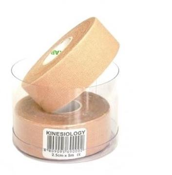 Bild von Kinesiologie Tape *Nasara* beige 2.5cmx5m (2 Rollen)