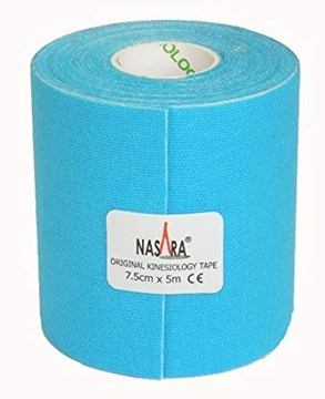 Bild von Kinesiologie Tape *Nasara* blau 7.5cmx5m