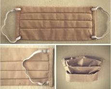 Bild von Mundschutz aus Baumwolle, beige (1 Stk) - S