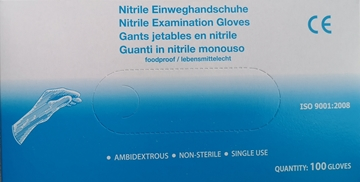 Bild von Nitrilhandschuh blau - 100 Stk / Grösse S