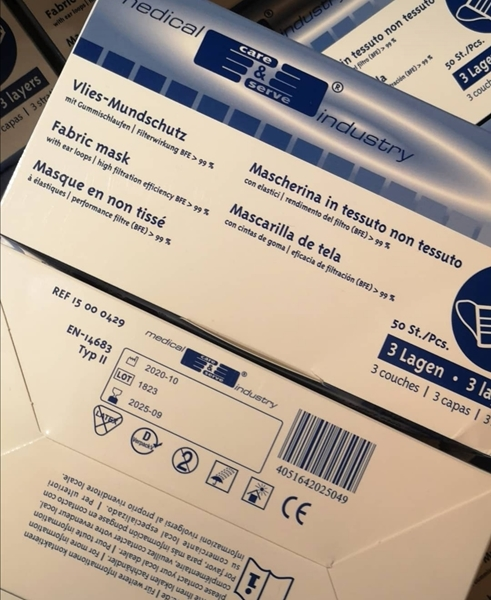 Bild von Vlies-Mundschutz Premium  - 1 Box à 50 Stk